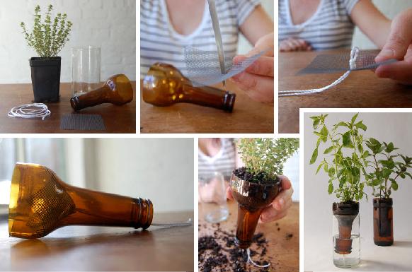 C mo hacer un jard n reciclando botellas hab tala - Que hacer con botellas de vidrio ...